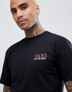 Черная футболка с принтом на спине Vans Boarhead VA3HEUBLK - Черный