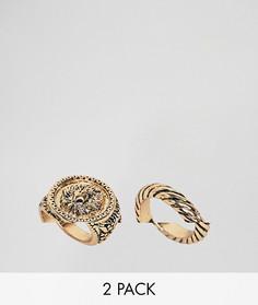 2 кольца ASOS DESIGN Curve - Золотой