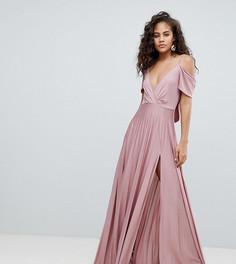Плиссированное платье макси ASOS DESIGN Tall - Розовый
