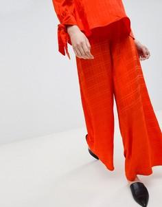 Брюки в полоску с широкими штанинами ASOS WHITE - Красный