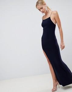 Платье макси ASOS DESIGN - Темно-синий