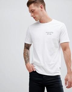 Белая футболка с вышивкой на груди Burton Menswear - Белый