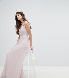 Платье макси с запахом TFNC - Коричневый