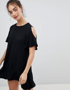Платье А-силуэта с вырезами на плечах Glamorous - Черный