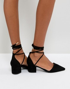 Черные туфли на среднем каблуке с завязкой на щиколотке RAID - Черный