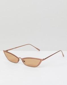 Солнцезащитные очки кошачий глаз ASOS DESIGN - Золотой