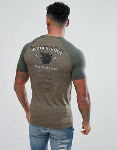 Обтягивающая футболка с принтом ASOS DESIGN - Зеленый