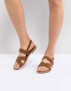 Замшевые сандалии с перекрестными ремешками New Look - Рыжий