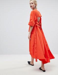 Платье миди ASOS WHITE - Красный