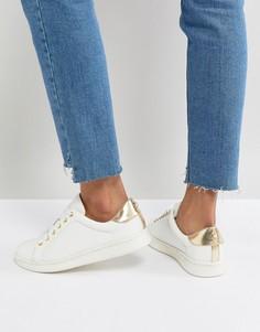 Кроссовки с искусственным жемчугом Miss KG - Белый