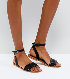 Кожаные сандалии с отделкой заклепками ASOS FREJA - Черный