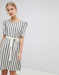 Платье в полоску с поясом Max&Co - Мульти