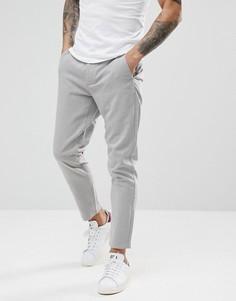 Укороченные брюки узкого кроя Only & Sons - Серый