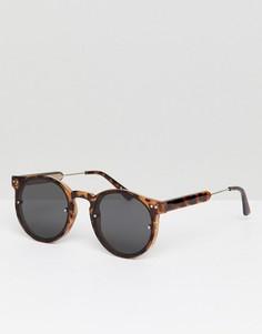 Черные круглые солнцезащитные очки в черепаховой оправе Spitfire - Черный