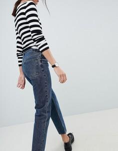 Темно-синие выбеленные джинсы прямого кроя ASOS DESIGN Florence - Синий