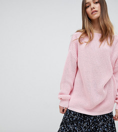 Свободный джемпер с глубоким вырезом сзади Glamorous Petite - Розовый
