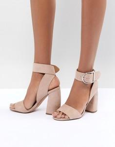 Босоножки на каблуке ASOS DESIGN Hold Tight - Бежевый