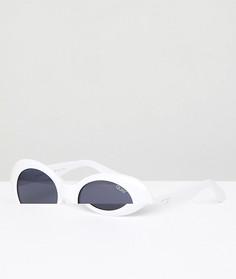Солнцезащитные очки кошачий глаз в белой оправе Quay Australia Festival Collection Sofia Richie Frivolous - Белый