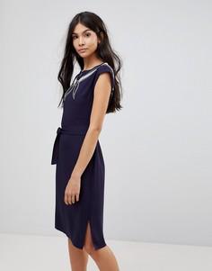Платье с вырезным узором и вышивкой Sugarhill Boutique - Темно-синий