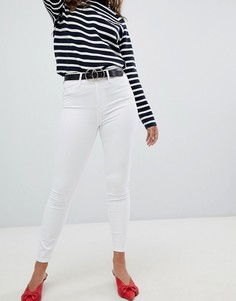 Супероблегающие джинсы с завышенной талией River Island - Белый