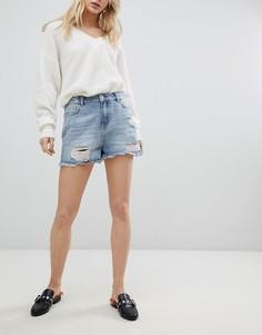 Джинсовые шорты с платочным принтом Urban Bliss - Синий