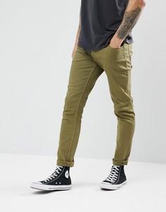 Узкие джинсы цвета хаки Jack & Jones - Зеленый