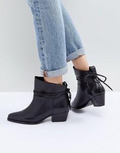 Черные кожаные ботильоны на среднем каблуке Hudson London Macha - Черный