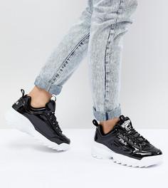 Лакированные черные кроссовки Fila Disruptor - Черный