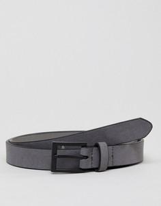 Серый ремень из искусственной замши New Look - Серый