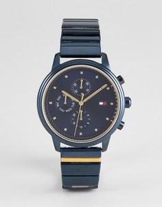 Синие наручные часы с хронографом Tommy Hilfiger 1781893 - 38 мм - Синий