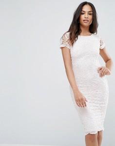 Платье миди с кружевом Ax Paris - Мульти