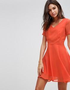 Короткое приталенное платье Pussycat London - Оранжевый