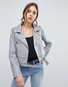 Куртка из искусственной кожи Parisian - Серый