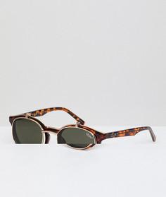 Солнцезащитные очки в круглой черепаховой оправе Quay Australia Festival Collection Sofia Richie Penny Royal - Коричневый