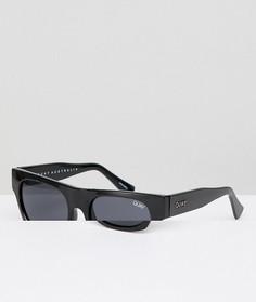 Quay Australia Festival Collection Солнцезащитные очки в квадратной черной оправе Sofia Richie Something Extra - Черный