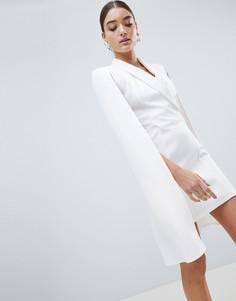 Платье-блейзер с накидкой Club L - Белый
