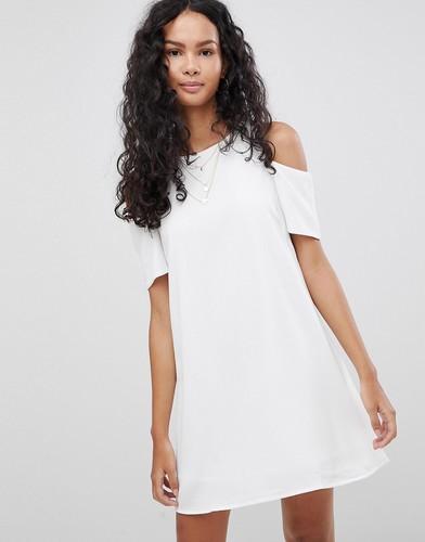 Платье с вырезами на плечах Glamorous - Белый
