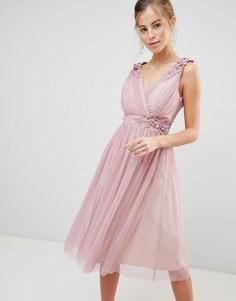 Платье для выпускного с искусственным жемчугом Little Mistress - Розовый