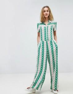 Комбинезон с цветочным принтом в стиле ретро Paul & Joe Sister - Зеленый