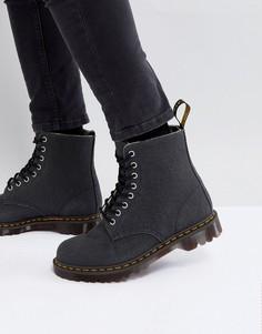 Ботинки из прочной парусины с 8 парами люверсов Dr.Martens Pascal - Черный 04250493de4ef