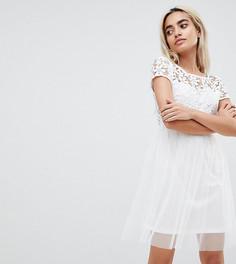 Кружевное платье для выпускного Vero Moda Petite - Белый