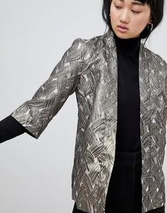 Жаккардовая куртка с эффектом металлик b.Young - Золотой