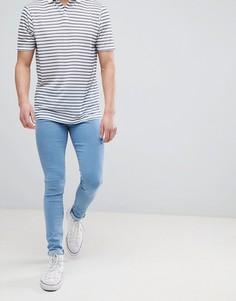 Светло-синие джинсы скинни Dr Denim Leroy - Синий