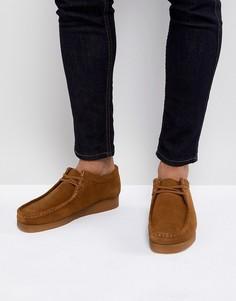 Замшевые туфли на шнуровке Clarks Originals - Рыжий