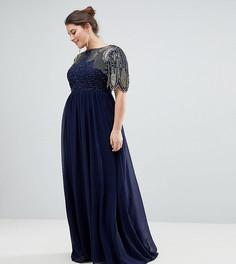 Платье макси Virgos Lounge Plus Lena - Темно-синий