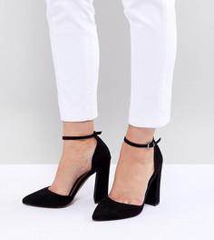Туфли для широкой стопы на высоком каблуке и с заостренным носком ASOS DESIGN - Черный
