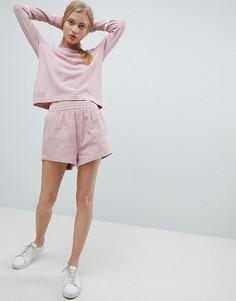 Вельветовые шорты с завышенной талией Dr Denim - Розовый