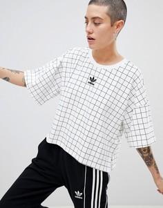 Oversize-футболка с принтом adidas Originals - Мульти
