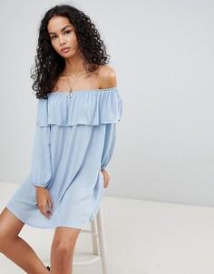 Платье с открытыми плечами Glamorous - Синий