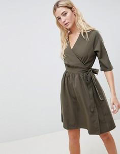 Платье с запахом Blend She - Зеленый